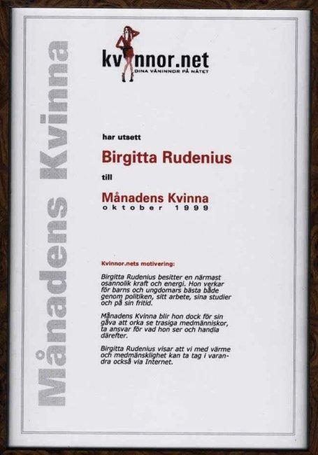 Månadens Kvinna @ Birgitta Rudenius
